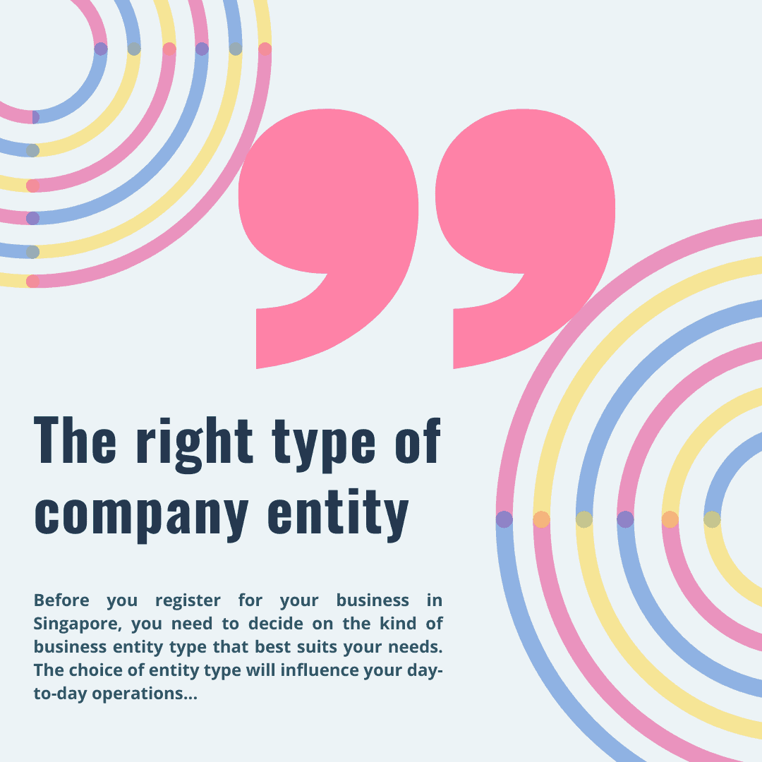 Choosing the right company entity to register your company in Singapore